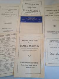 Montgomery AL Concert Course Lot, 1947 - 1948 Season, Sidney Lanier Auditorium.