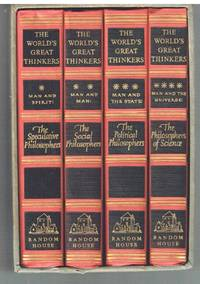 World's Great Thinkers 4 Vol Set 1947 Saxe Commins Boxed Set