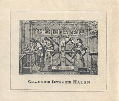 Very Good. Very Good Charles Downer Hazen, no designer, nd, 10 by 86 cm, used, near fine with faint ...