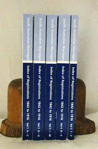 South Australian Marriages Index of Registrations 1842 - 1916 (5 Volumes ) by  A. L. (Editor and Project Coordinator) Cobiac - Paperback - 1st thus - 2001 - from Adelaide Booksellers and Biblio.com