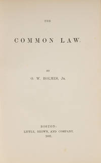 The Common Law, First Edition, Boston, 1881, 1st ed, 2nd issue
