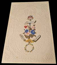 Ornate, Embossed Valentine with Gilt and Multi-Color Floral Diecut, With Orignial Envelope