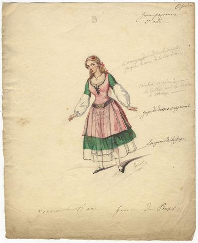 image description & ABAA   Original watercolour costume design for a female dancer in ...