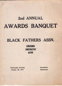 1971 Program for 2nd Annual Awards Banquet - Black Fathers Association