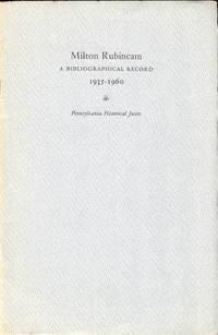 Milton Rubincam: A Bibliographical Record 1935-1960