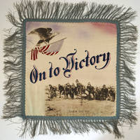 """image of """"On to Victory.  Over the Top"""".  WWI Souvenir Pillow Cover"""