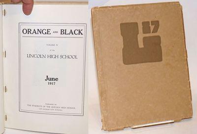 Los Angeles: Los Angeles City Schools, 1917. Paperback. 146p., the usual highschool yearbook format ...