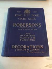 image of Royal Blue Book: Court and Parliamentary Guide, 1930