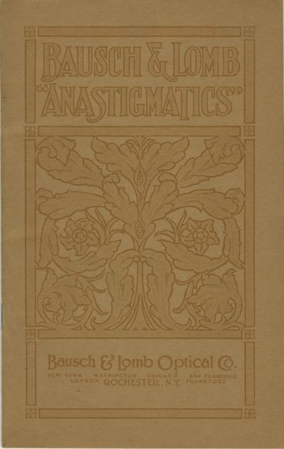 Rochester: Bausch & Lomb Optical Co, 1915. 12mo., 36 pp., illustrated from b&w photographs. Decorati...