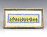 Persian Miniature Painting. [Ancient Game of Polo].