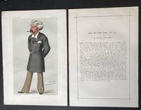 Original Illustration and Profile of Bret Harte published in Vanity Fair Magazine; [Harte, Francis Bret - An Original Vanity Fair ''Spy'' Print]