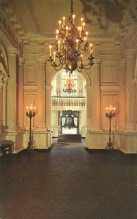 Hallway, Independence Hall, Philadelphia, Pa - unused Postcard