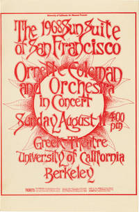 Ornette Coleman in Concert at The Greek Theatre, Berkeley, CA, August 11, 1968