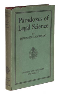 The Paradoxes of Legal Science, Signed 1st Edition in Dust Jacket