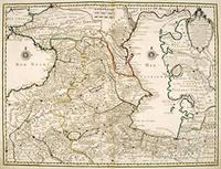 CARTE DES PAYS VOISINS DE LA MER CASPIENE by  Guillaume DELISLE - Aug 1723. - from Peter Harrington (SKU: 55262)