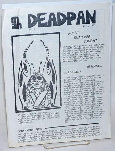 Cambridge: Mount Auburn Hospital, 1973. Four-panel newsletter, 8.5x11 inches, humor, articles, carto...