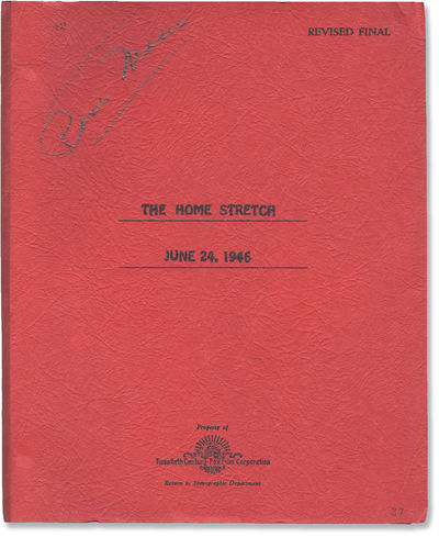 Los Angeles: Twentieth Century-Fox, 1946. Revised Final Draft script archive for the 1947 film, here...