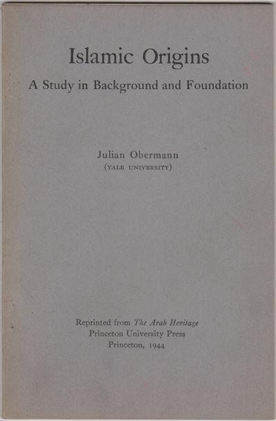 Princeton: Princeton Univ. Press, 1944. Offprint. Stapled paper wrappers. Near fine, wrappers lightl...