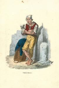 'Facchino' Porter smoking, standing by basket. by NEAPOLITAN COSTUME PRINT - from R.G. Watkins Books and Prints (SKU: RGW21337)