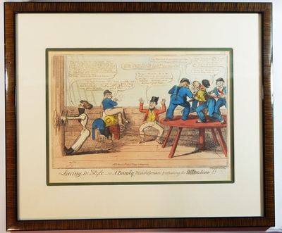 London: T. Tegg, 1819. Etching. Fine. Original etching with contemporary hand-coloring. Approximatel...