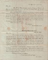 Lettersheet, Announcement and Bill from Haslucks & Co. Saddlery Ware, New  York City 1844