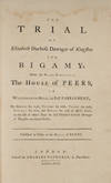 View Image 2 of 3 for The Trial of Elizabeth Duchess Dowager of Kingston for Bigamy, 1776 Inventory #71882