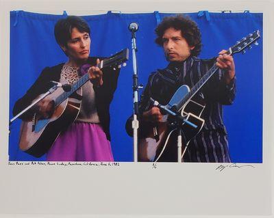 Pasadena, 1982. Limited edition (1 of 6). Description: Joan Baez and Bob Dylan at Rose Bowl Peace Su...