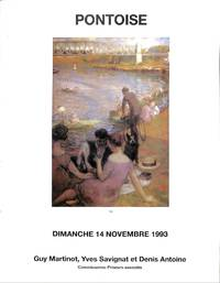 Vente 14 Novembre 1993 : l' École De Pontoise Auvers-Sur-oise et La  Peinture Française Des XIXe et XXe Siècles.