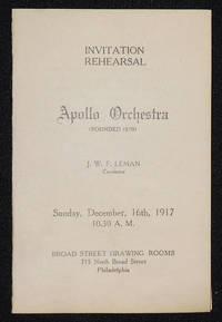 image of Apollo Orchestra program -- Conductor J. W. F. Leman [La Nuit et L'Amour by Augusta Holmes]