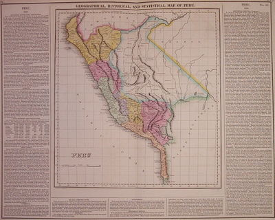 Philadelphia: Carey & Lea, 1822. unbound. very good. Map. Engraving with original hand coloring. Ima...