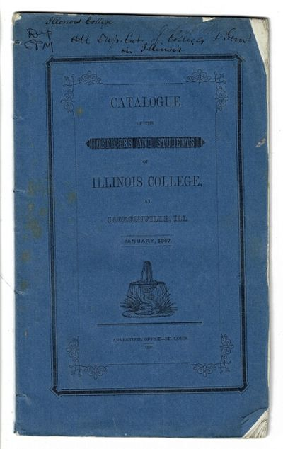 St. Louis: printed at the office of the Daily Advertiser, 1847. 8vo, pp. 23, ; original blue printed...