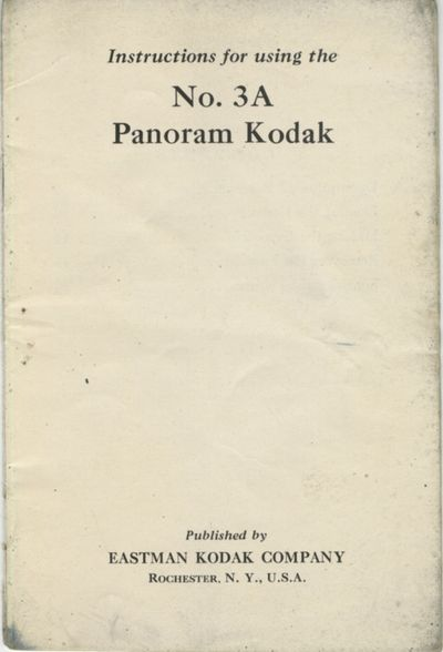 Rochester: Eastman Kodak Company, 1928. 16mo., pp., illustrated. Printed paper wrappers. Rear wrappe...