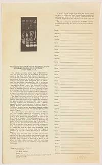 image of Petition to Governor Nelson Rockefeller and Attorney-General Louis Lefkowitz of New York State [handbill]