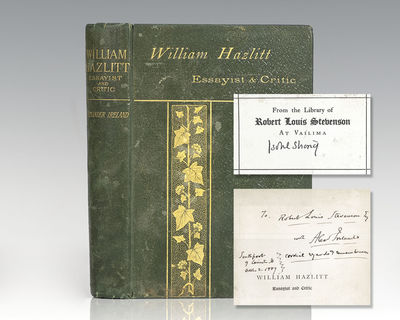London and New York: Frederick Warne and Co, 1889. Robert Louis Stevenson's first edition copy of th...