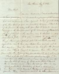 Letter Written to Almira Porter Barnes, Temperance Advocate, Abolitionist  and Philanthropist [Oberlin, Ohio]