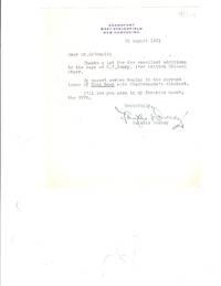 TLS from military historian and author Fairfax Downey to NYPL Bulletin editor, Gerald McDonald