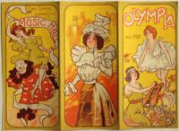 Carte programme de l'Olympia, 1897 [lithographie en couleurs]