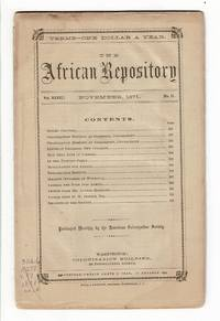 image of The African Repository and colonial journal [later:] The African Repository