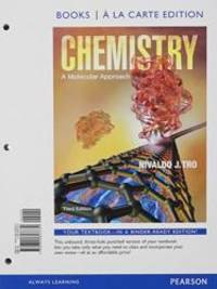 image of Chemistry: A Molecular Approach, Books a la Carte Plus MasteringChemistry with eText -- Access Card Package (3rd Edition)