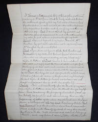 image of Handwritten will of Thomas D. Wattson with pencilled notation by Wattson declaring it null and void