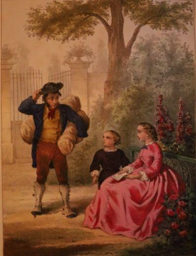 Paris: Librairie D'Education, A. Courcier. N.d., circa 1860s. Small 4to. 240 pp. With five color pla...
