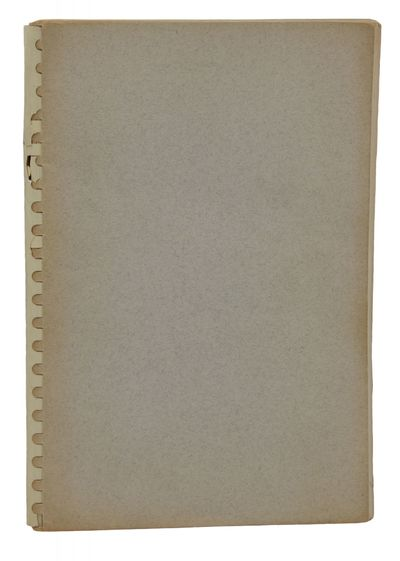 Boston: Houghton Mifflin Company, 1966. Uncorrected Proof. Very Good. 90 pp. Uncorrected proof of th...