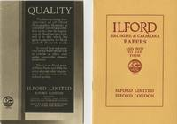 ILFORD BROMIDE & CLORONA PAPERS AND HOW TO USE THEM.; [cover title]