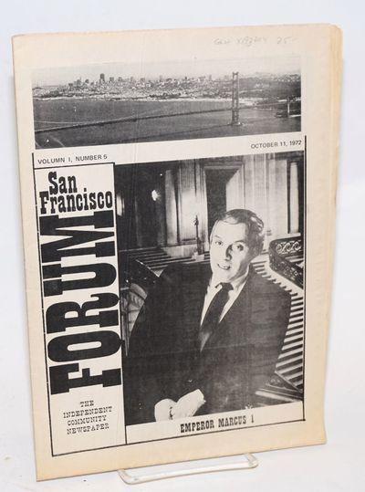 San Francisco: ABC Publications, 1972. Newspaper. 16p., folded tabloid newspapers, photos, columns, ...