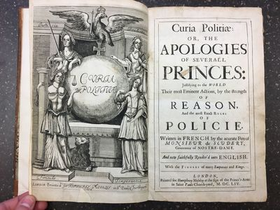 London: Humphrey Moseley, 1654. Hardcover. Quarto, , 190, pages; VG; bound in full contemporary brow...