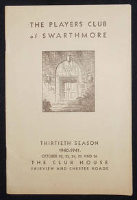 image of Stage Door by George S. Kaufman and Edna Ferber presented by The Players Club of Swarthmore under the direction of Samuel Evans, Jr. [program]