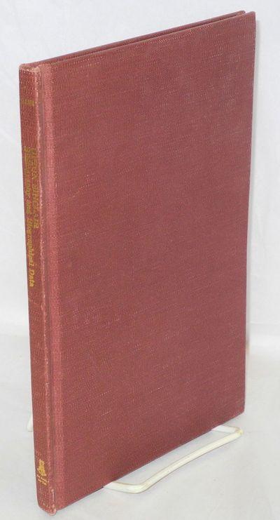 New York: Burt Franklin, 1971. Hardcover. 54p., very good condition. Reprint of 1935 edition. Essays...