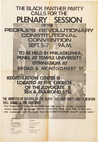 Poster: The Black Panther Party Calls for the Plenary Session of the People's Revolutionary Constitutional Convention, Sept.5-7 9 A.M.