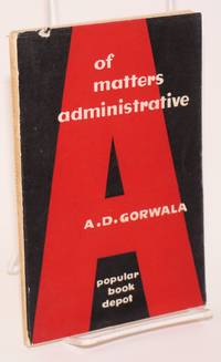 image of Of Matters Administrative