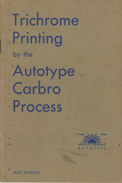 London: The Autotype Company, 1925. First edition. 12mo., 26 pp. Stiff wrappers, which are lightly s...